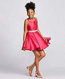 Big Girls Satin Skater Dress