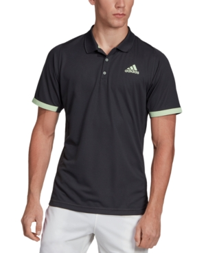 Adidas Men's Climalite Tennis Polo In Carbonglo