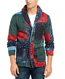 Men's Patchwork Cardigan Sweater