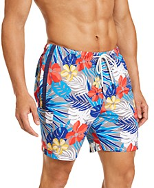 Men's Naples Prickly Pear Palm Swim Trunks