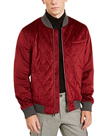 Men's Velvet Quilted Bomber