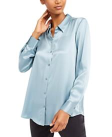 Eileen Fisher Silk Button-Down Shirt, Regular & Petite Sizes
