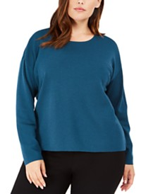 Eileen Fisher Plus Size Merino Wool Sweater