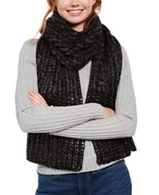 DKNY Flat-Stud Metallic Rib-Knit Scarf