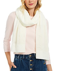 Open-Knit Blocked Scarf