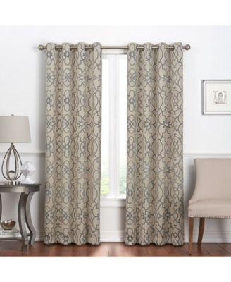 """Villa Blackout Grommet Curtain, 84"""" x 50"""""""