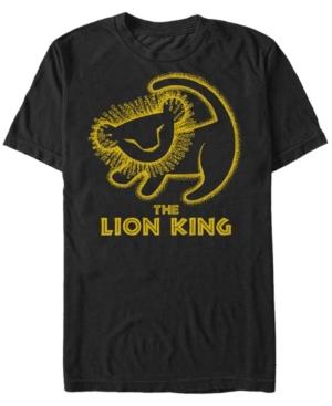 Simba Cave Painting Short Sleeve T-Shirt