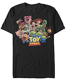 Disney Pixar Men's Toy Story We're All Besties Group Shot Short Sleeve T-Shirt