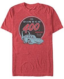 Disney Pixar Men's The Dinoco 400 a Piston Cup Short Sleeve T-Shirt