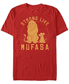 Disney Men's The Lion King Be Strong Like Mufasa Short Sleeve T-Shirt