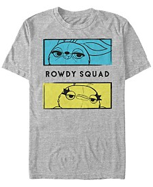 Disney Pixar Men's Toy Story 4 Ducky and Bunny Rowdy Squad Short Sleeve T-Shirt