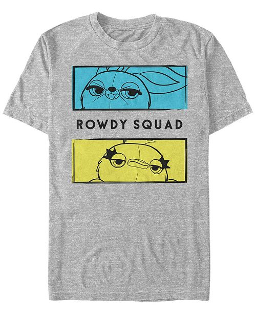 Toy Story Disney Pixar Men's 4 Ducky and Bunny Rowdy Squad Short Sleeve T-Shirt