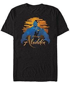 Disney Men's Live Action Genie Silhouette Short Sleeve T-Shirt