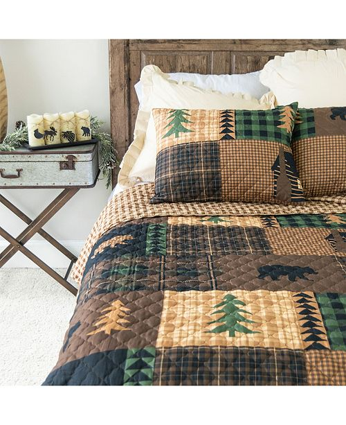 American Heritage Textiles Brown Bear Cabin Quilt Collection