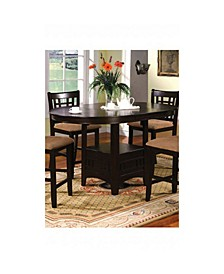 Wooden Oval Counter Height Table