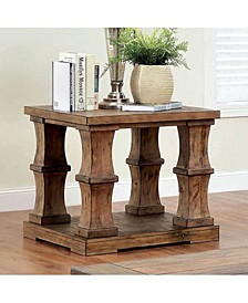 Wooden End Table with Bottom Shelve