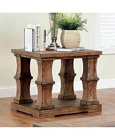 Benzara Wooden End Table with Bottom Shelve