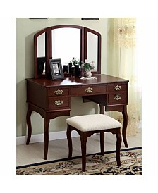 Benzara Traditional Style Vanity Table