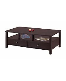 Benzara Coffee Table with Storage Space
