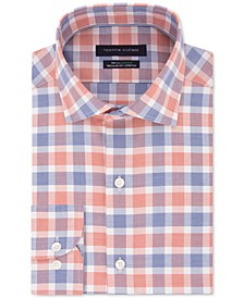 Men's Classic/Regular Fit Non-Iron THFlex Supima® Performance Stretch Check Dress Shirt
