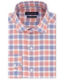 Tommy Hilfiger Men's Classic/Regular Fit Non-Iron THFlex Supima® Performance Stretch Check Dress Shirt