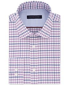 Men's Fitted Performance Stretch Flex Collar Check Dress Shirt, Created for Macy's
