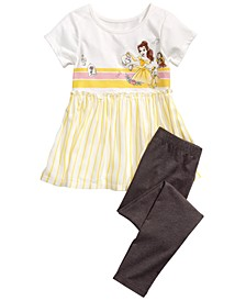 Little Girls 2-Pc. Be Our Guest Top & Leggings Set