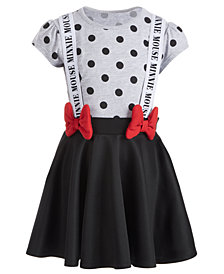 Disney Little Girls Minnie Mouse Suspender Dress