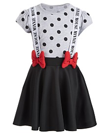 Disney Little Girls Minnie Mouse Suspender Dress