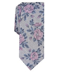 Bar III Men's Fairmont Skinny Floral Tie, Created for Macy's