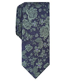 Men's Sereno Skinny Floral Tie, Created for Macy's
