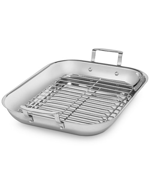 Martha Stewart Collection CLOSEOUT! Stainless Steel Roaster, Created for Macy's