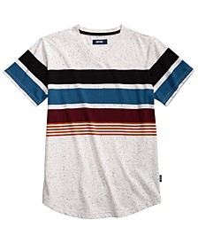 Big Boys Billy Colorblocked Stripe V-Neck T-Shirt