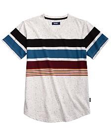 Univibe Big Boys Billy Colorblocked Stripe V-Neck T-Shirt