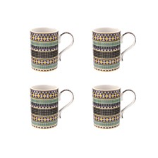 Atrium Geo Mug, Set of 4