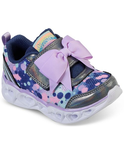 Skechers Toddler Girls Heart Lights Sparkle Spark Casual Sneakers from Finish Line