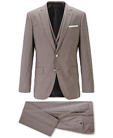 BOSS Men's Slim-Fit 3-Pc. Virgin Wool Suit