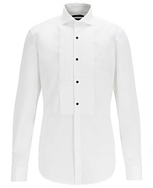 BOSS Men's Jarred Slim-Fit Easy-Iron Cotton Evening Shirt