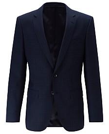 BOSS Men's Slim-Fit Patterned Virgin Wool Serge Jacket