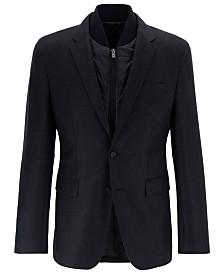 BOSS Men's Hadik Slim-Fit Virgin Wool Jacket With Detachable Vest