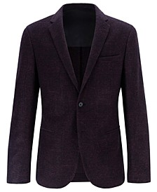 BOSS Men's Slim-Fit Micro-Patterned Jacket