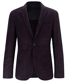BOSS Men's Slim-Fit Micro-Patterned Jacket