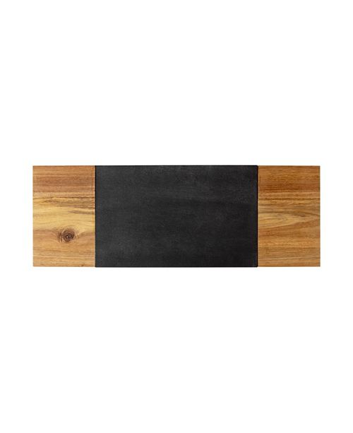 Cathy's Concepts Personalized Slate & Acacia Charcuterie Board with Serving Knife