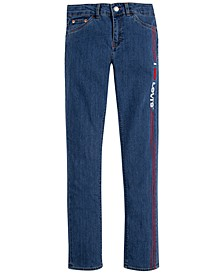 Big Girls Embroidered Girlfriend Jeans