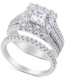 Diamond Princess Halo Engagement Ring (2-1/2 ct. t.w.) in 14k White Gold