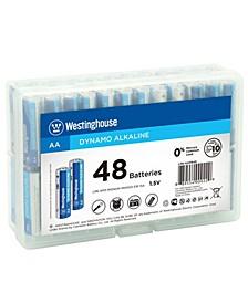 AA Dynamo Alkaline 48pk in Storage Case