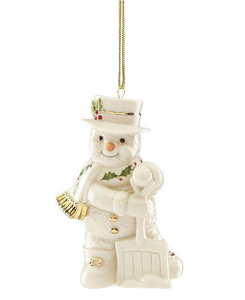 Lenox 2019 Shoveling Snowman Ornament
