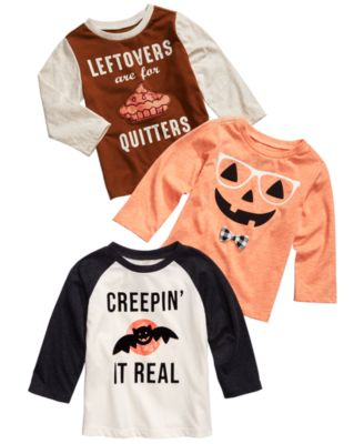 Baby Boys Hipster Pumpkin T-Shirt, Created for Macy's