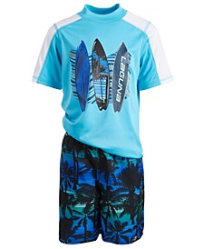 Toddler & Little Boys 2-Pc. Rash Guard & Swim Shorts Set