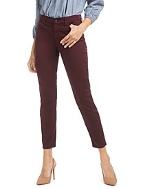 Sateen Ankle Skinny Jeans